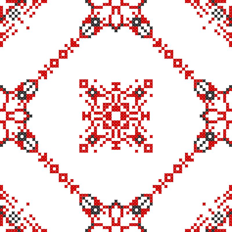Текстовий слов'янський орнамент: Гармонію Всесвіту прославляю