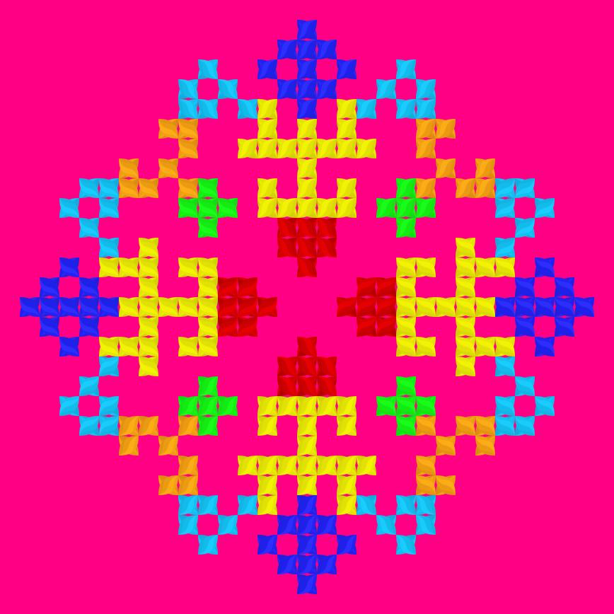 Текстовий слов'янський орнамент: ка