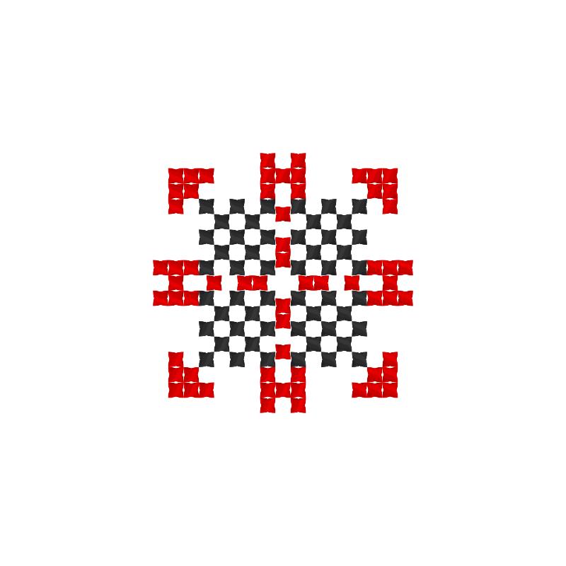 Текстовий слов'янський орнамент: Зіна