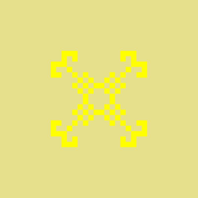 Текстовий слов'янський орнамент: хрестик