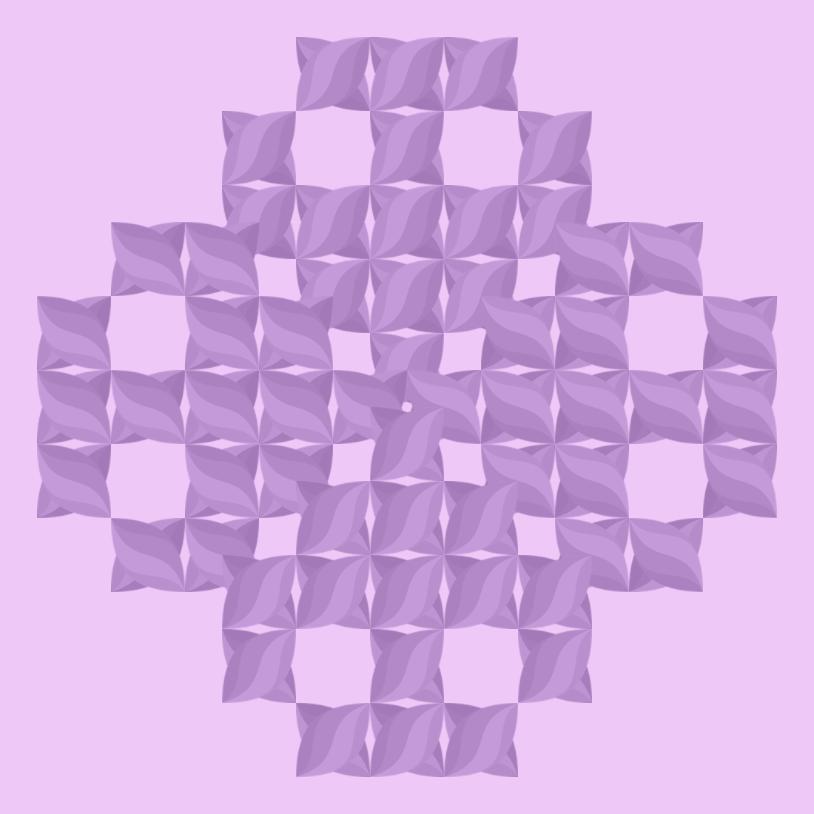 Текстовий слов'янський орнамент: квітка