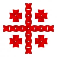 Текстовый украинский орнамент: хрестик