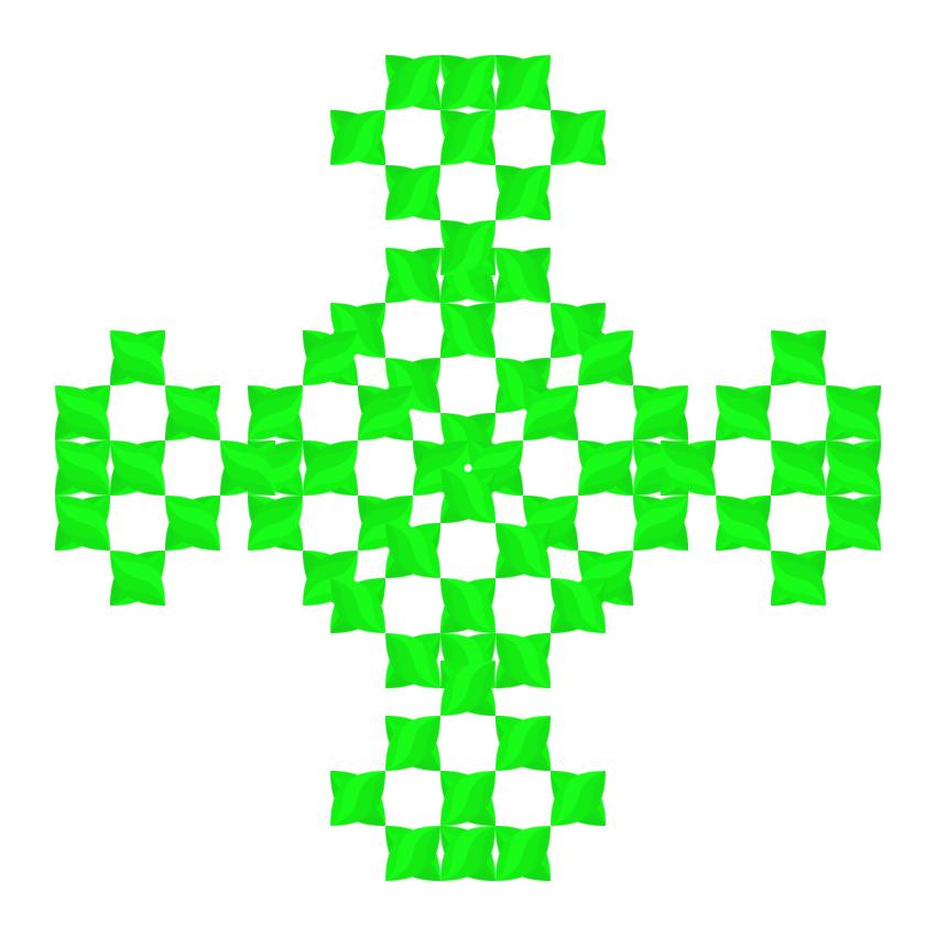 Текстовий слов'янський орнамент: трава