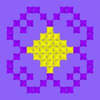 Текстовый украинский орнамент: цветок