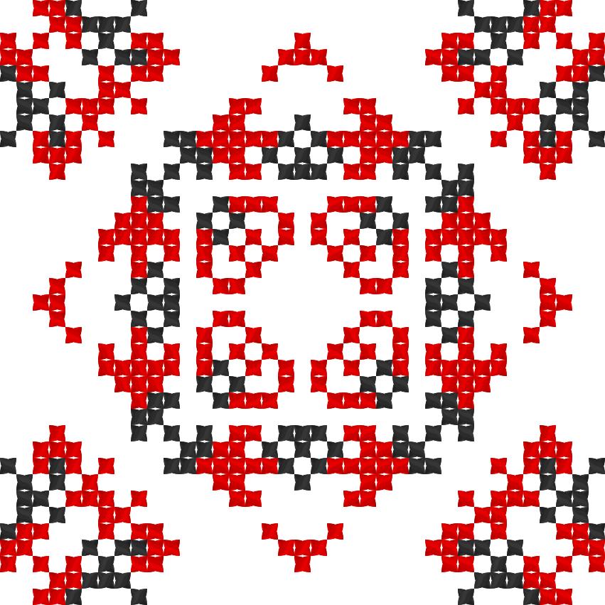 Текстовий слов'янський орнамент: Міцна родина