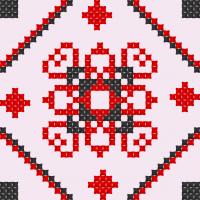 Текстовый украинский орнамент: Тамара