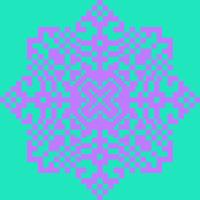 Текстовый украинский орнамент: снежинка