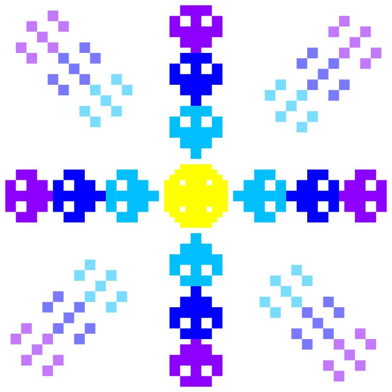 Текстовий слов'янський орнамент: зірка мрії