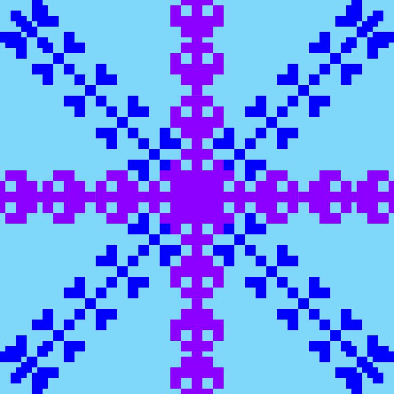 Текстовий слов'янський орнамент: снежинка