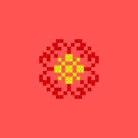 Текстовый украинский орнамент: квітка