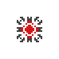 Текстовый украинский орнамент: Анна