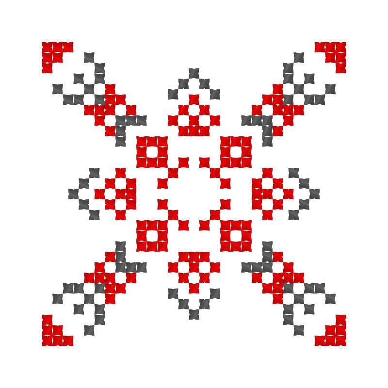 Текстовий слов'янський орнамент: людмила