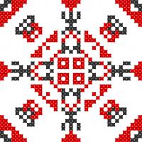 Текстовый украинский орнамент: ЮЛІАНА МАЄР