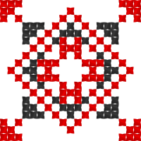 Текстовый украинский орнамент: Наталя