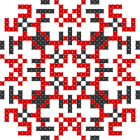 Текстовый украинский орнамент: Повага