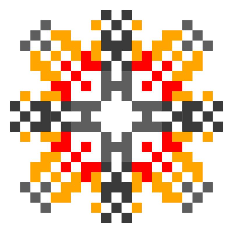 Текстовий слов'янський орнамент: Ніжність