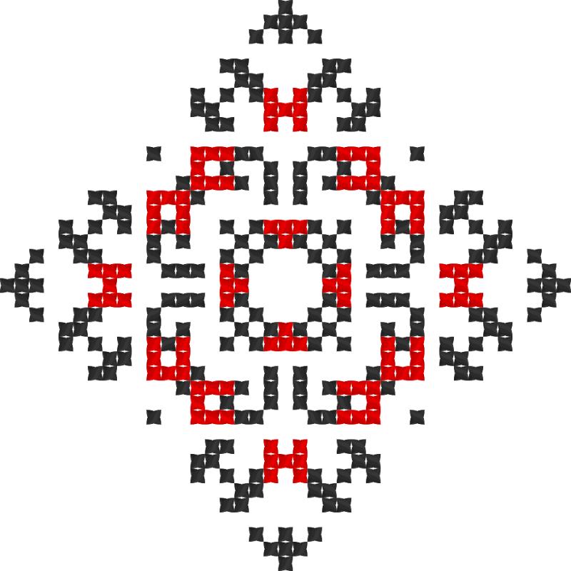 Текстовий слов'янський орнамент: терпіння