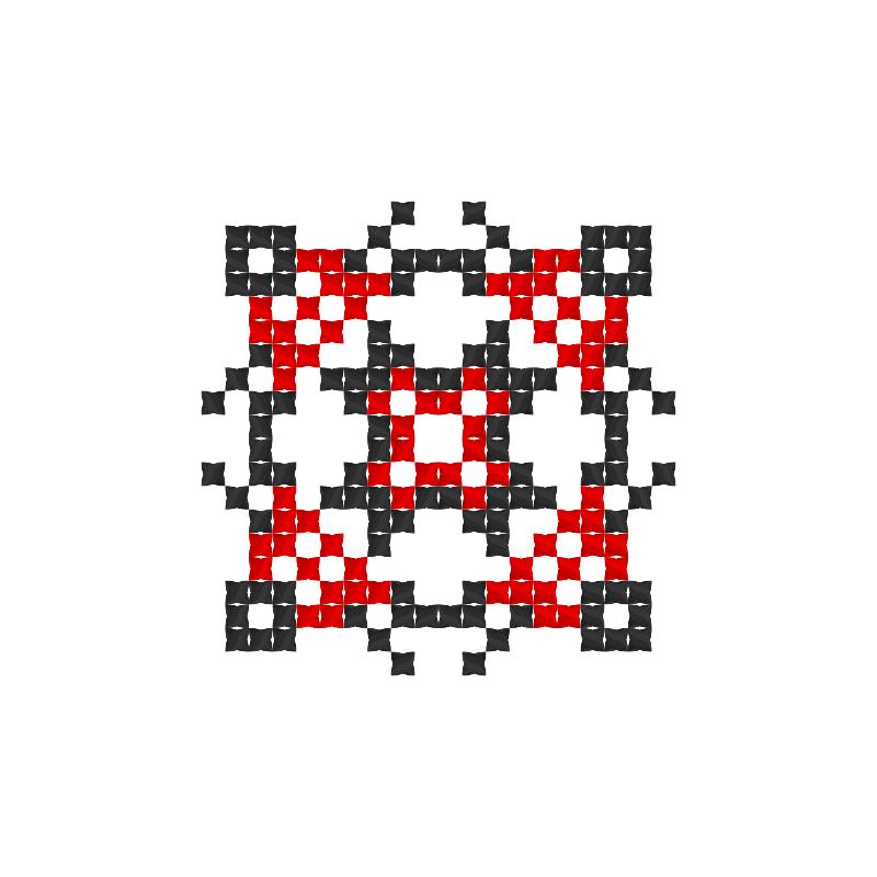 Текстовий слов'янський орнамент: Мокош