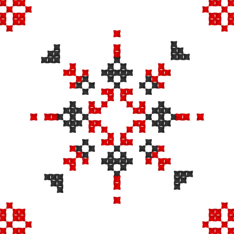 Текстовий слов'янський орнамент: Софійка