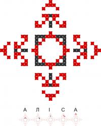 Текстовый украинский орнамент: Аліса