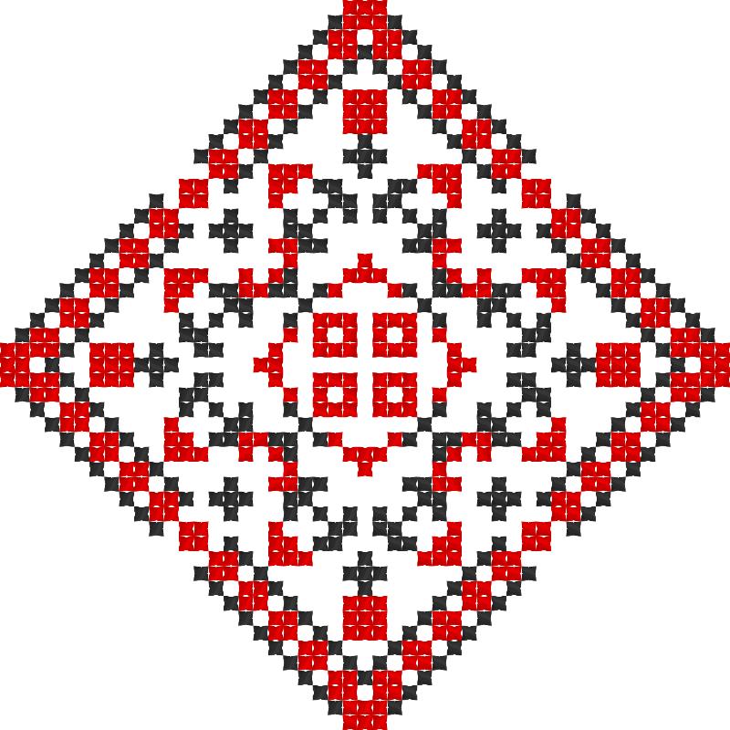 Текстовий слов'янський орнамент: ОКСАНА