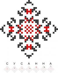 Текстовый украинский орнамент: Сусанна