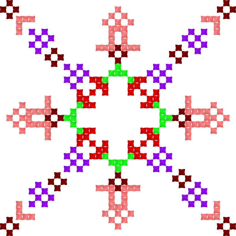 Текстовий слов'янський орнамент: оленка