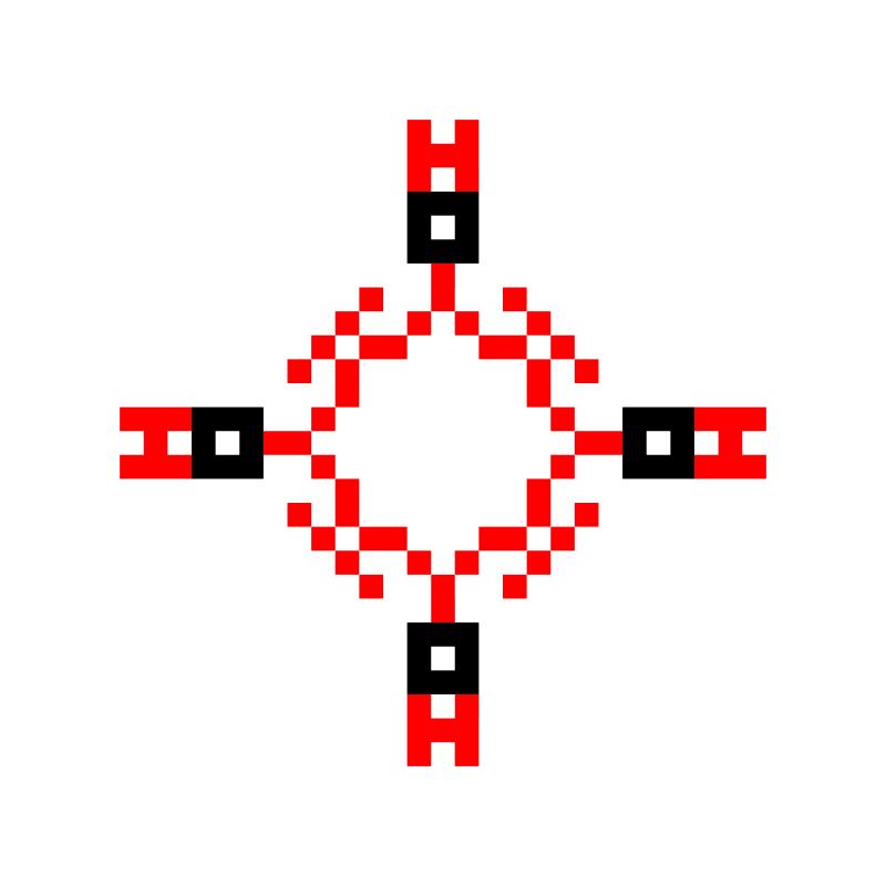 Текстовий слов'янський орнамент: BOH