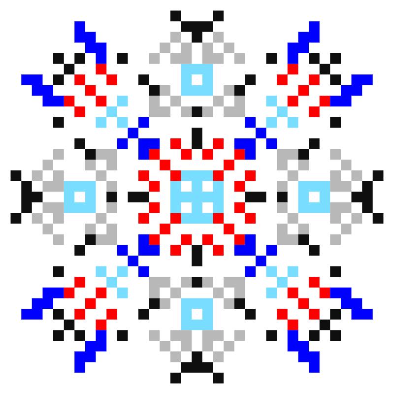 Текстовий слов'янський орнамент: Вікторія-Віта