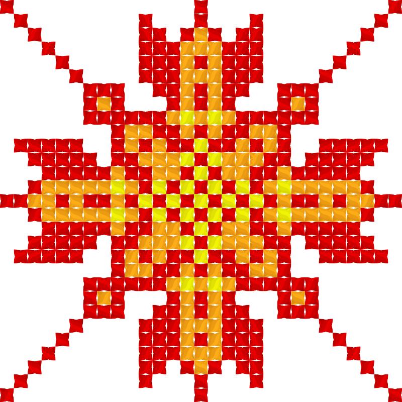 Текстовий слов'янський орнамент: Осiнь
