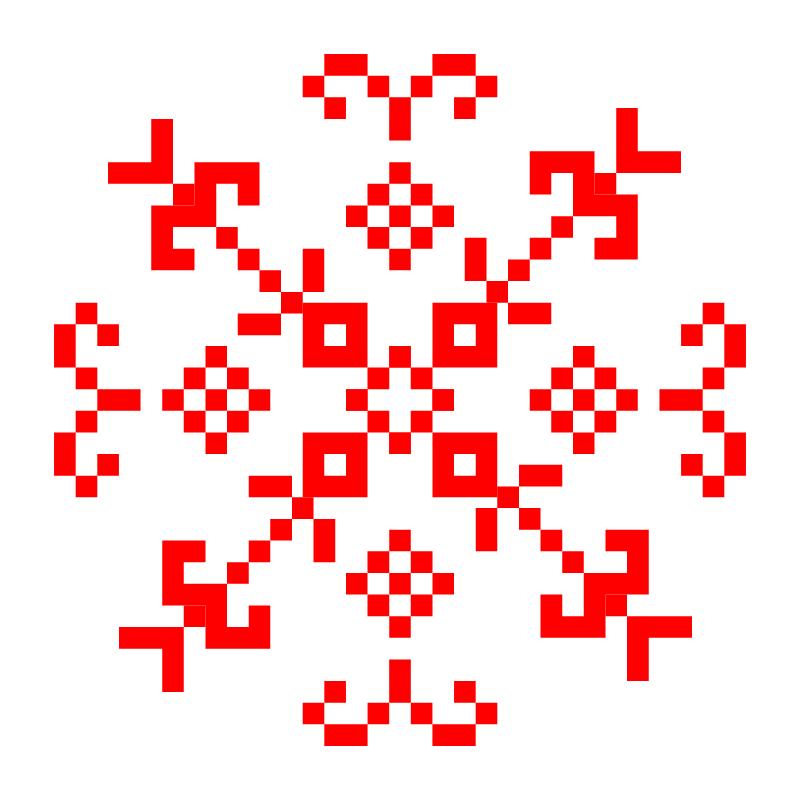 Текстовий слов'янський орнамент: Flover