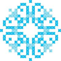 Текстовый украинский орнамент: Дар'я (блакитна)