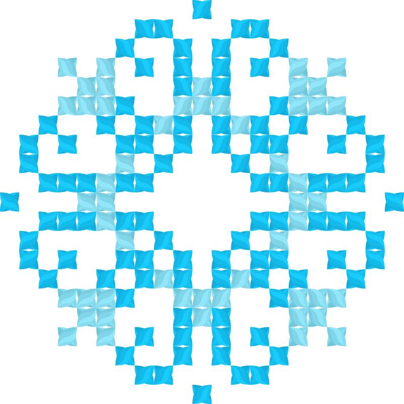 Текстовий слов'янський орнамент: Дар'я (блакитна)