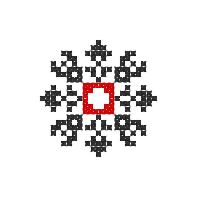 Текстовий слов'янський орнамент: Альона