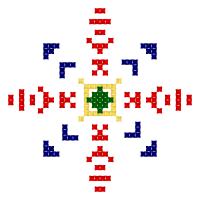 Текстовый украинский орнамент: Вакула 2