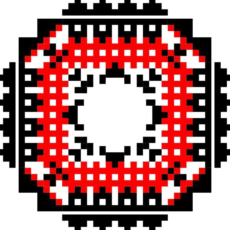 Текстовий слов'янський орнамент: АК - 47