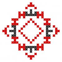 Текстовый украинский орнамент: Лена