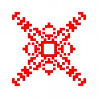 Текстовый украинский орнамент: Манган