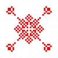 Текстовый украинский орнамент: Цезій