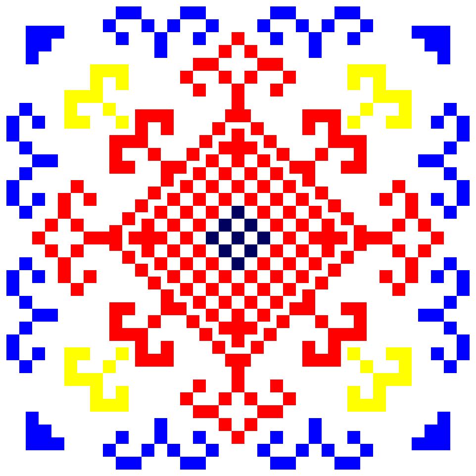 Текстовий слов'янський орнамент: паутина