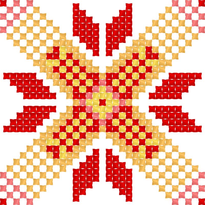 Текстовий слов'янський орнамент: CEKC