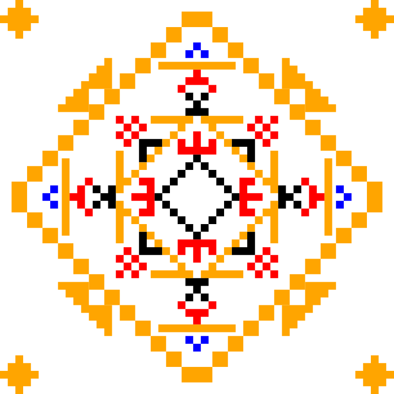 Текстовий слов'янський орнамент: лелека-100