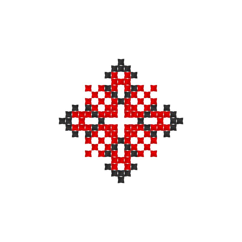 Текстовий слов'янський орнамент: Алена