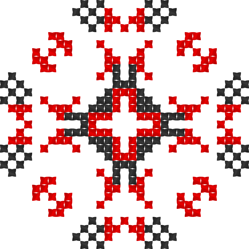 Текстовий слов'янський орнамент: Папа Мен (Youtube Chanel Papa Man)