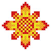 Текстовый украинский орнамент: Листопад (Ноябрь)