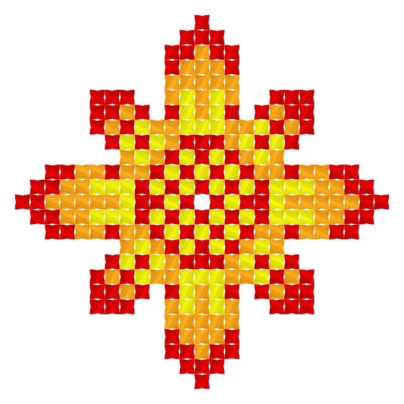 Текстовий слов'янський орнамент: Листопад (Ноябрь)