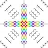 Текстовый украинский орнамент: кольорова квітка