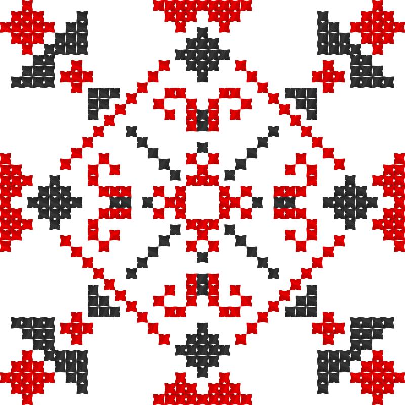 Текстовий слов'янський орнамент: Kihf