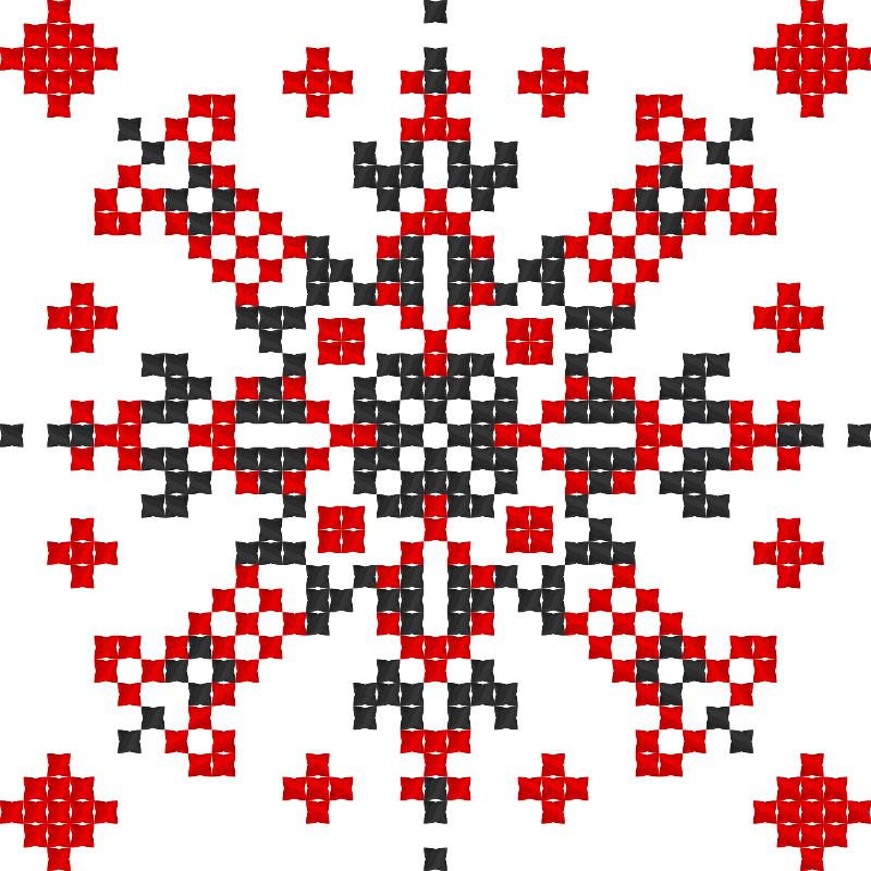 Текстовий слов'янський орнамент: Чумацькі Зорі