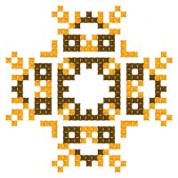 Текстовый украинский орнамент: Шоколад